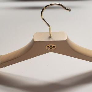 Tory Burch Wooden Hangers w/Gold Emblem